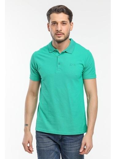 Slazenger Slazenger Soho Erkek T-Shirt Hardal Yeşil